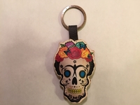Image Leather Frida Muerta Keychain, Natural