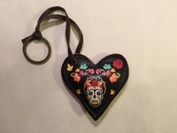 Image Leather Heart with Frida Skull