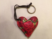 Image Leather Heart with Roses