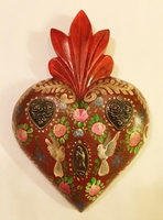 Image Hand Painted Heart with Doves