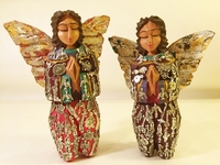 Image Kneeling Angel with Milagros, Medium