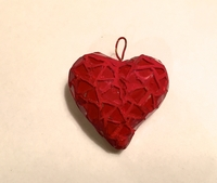 Image Red Mosaic Heart Ornament