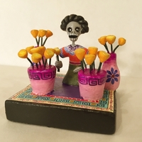 Image Pots of Marigolds