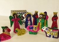 Image Itty Bitty Mexican Tin Nativity
