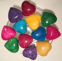 Image Natural Stone Hearts, Colored Tones, Large