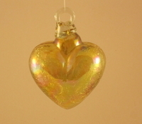 Image Crackled Amber Glass Heart