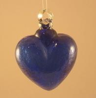 Image Crackled Cobalt Glass Heart