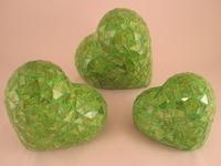 Image Green Mosaic Hearts, Set of 3