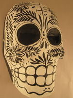 Image Black and White Calavera Mask