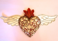 Image Sacred Heart with Tin Wings, Red