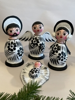 Image Black and White Mexican Nativity, Four Pieces