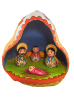 Image Mexican Nativity in Gourd