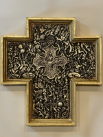 Image Gilded Cross with Milagros and Large Center Cross