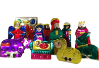 Image Mexican Nativity Set in Box, Large