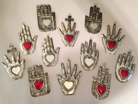 Image Set of 10 Small Tin Healing Hands
