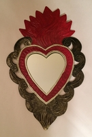 Image Extra Large Sacred Heart with Mirror