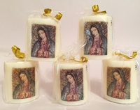 Image Guadalupe Votive Candle, S/5