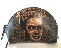 Image Leather Frida Coin Purse, Black