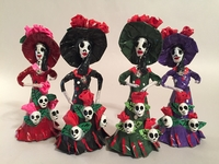 Image Miniature Catrina with Skulls, S/3