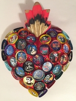 Image Bottle Cap Day of the Dead Sacred Heart