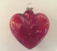Image Red Blown Glass Heart, Large