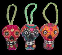 Image Embroidered Calavera Ornament, Small
