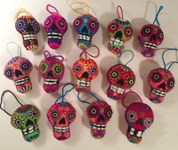 Image Embroidered Calavera Ornament, Small