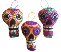 Image Embroidered Calavera Ornament, Large