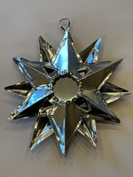 Image Tin Star Ornament with Reflecting Mirror