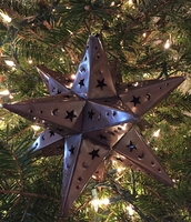 Image Tin Moravian Star, Antiqued