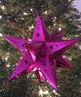 Image Tin Moravian Star, Fuchsia