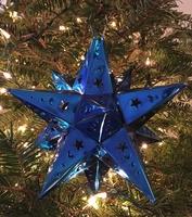 Image Tin Moravian Star, Indigo