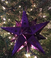 Image Tin Moravian Star, Purple