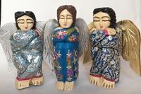 Image Sitting Angel with Milagros, Medium