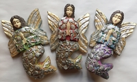 Image Hand Carved Sea Fairy with Milagros