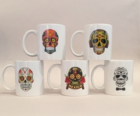 Image Calavera Ceramic Mug, Set of Five