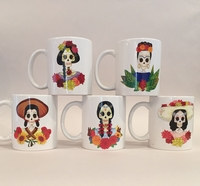 Image Catrina Ceramic Mug, Set of Five