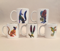 Image Alebrije Ceramic Mug, Set of Five