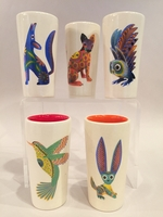 Image Alebrije Ceramic Shot Glass, Set of Five