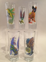 Image Alebrije Shot Glass, Set of Five