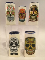 Image Calavera Ceramic Shot Glass, Set of Five