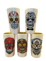 Image Calavera Shot Glass, Ceramic, Set of Five