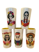 Image Catrina Shot Glass, Ceramic, Set of Five