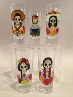 Image Catrina Shot Glass, Set of Five