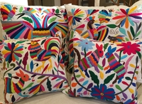 Image Hand Embroidered Otomi Pillow Cover, Extra Large