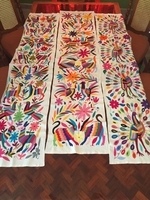 Image Hand Embroidered Otomi Table Runner, Wide