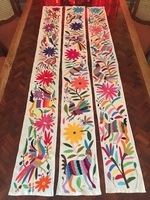 Image Hand Embroidered Otomi Table Runner, Narrow