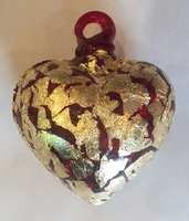 Image Red Heart with Gold Leaf