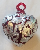 Image Red Heart with Silver Leaf