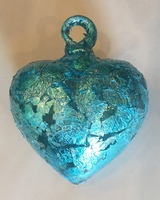 Image Aquamarine Heart with Aquamarine Leaf